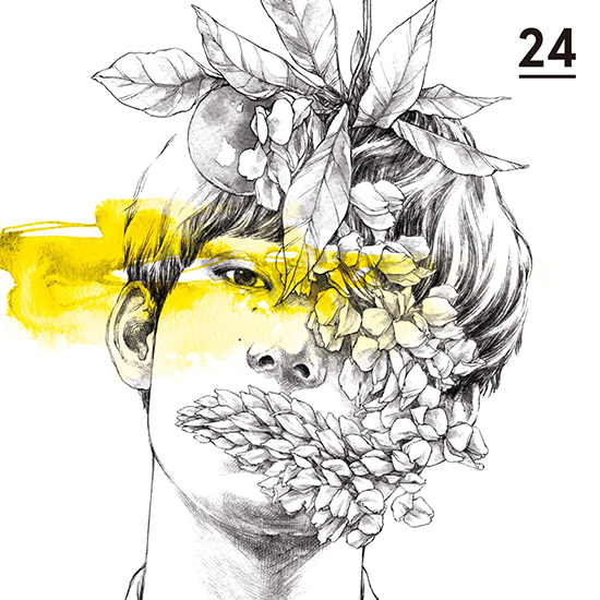 向井太一 2nd EP『24』ジャケットイラスト