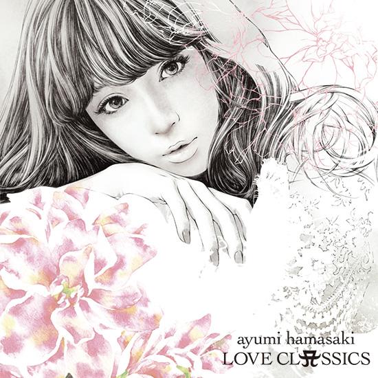 浜崎あゆみ クラシックアルバム『LOVE CLASSICS』CDジャケットイラスト