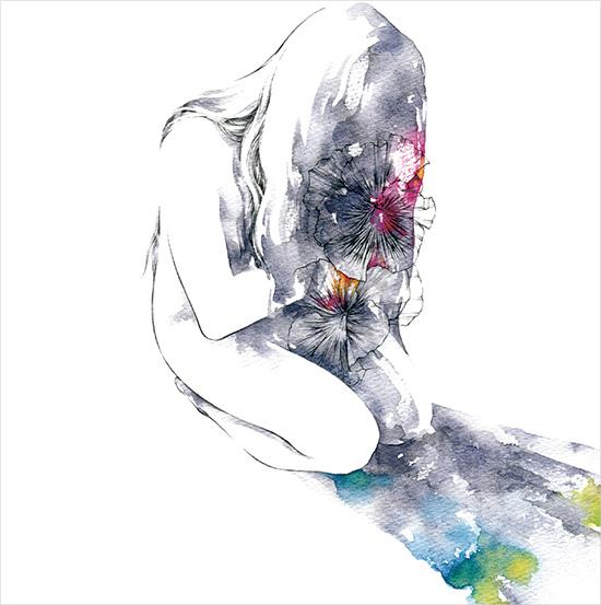 雑魚猫タワー 3rd mini album『一隅にて』ジャケットイラスト